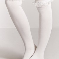 Over-the-Knee Ruffled Socks