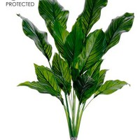 "UV Protected Plastic Spathiphyllum Plant in Green - 33"" Tall"