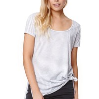 Nollie Side Slit T-Shirt - Womens Tee - Black