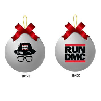 Run Dmc Xmas - Mens Silver Ornament