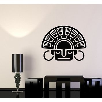 Vinyl Wall Decal Ancient Ethnic Style African Native Mask Stickers Mural (g2681)