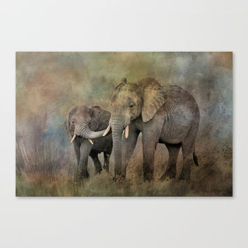 Mother And Child Canvas Print by Theresa Campbell D'August Art