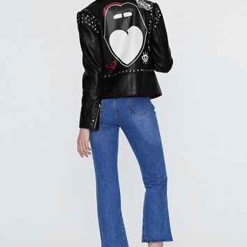 Nasty Gal x Jaydee Elma Vegan Leather Moto Jacket