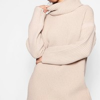 Evie Roll Neck Jumper Dress | Boohoo