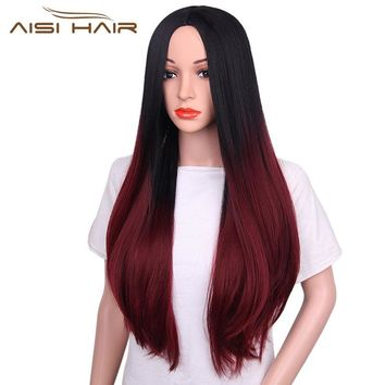 """I's a wig"" Synthetic Wigs  aisi  30 "" Long Straight Hair for Women High Temperature Fiber"