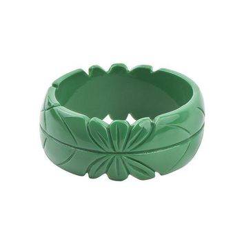 Guanlong Romantic Floral Resin Carved Leaf Bangle Jewelry 2017 New Collection Femme Bangles Puseiras Jewellery