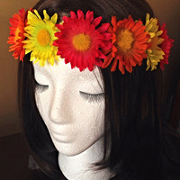 Flower Child Headband, Flower Crown, Flower halo for EDM festivals, Tomorrowworld, Ultra, Veld, EDC, Electric Zoo, Electric Forest