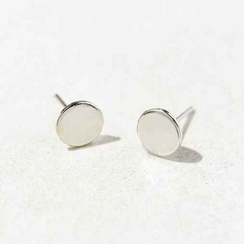 Brooklyn Charm Flat Circle Stud Earring