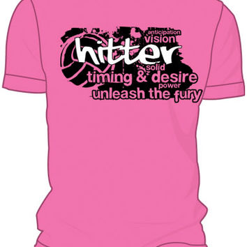 Midwest Volleyball Warehouse - Pink Hitter T-Shirt
