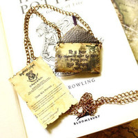 Hogwarts accpetance letter - Harry Potter personalized necklace