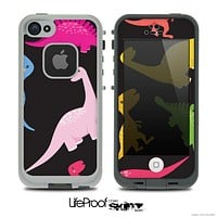 The Vector Neon Dinosaur Skin for the iPhone 4 or 5 LifeProof Case