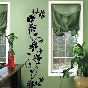 Flower Rattan Wallpaper Home Decor Wall Stickers