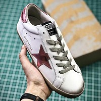 GGDB Golden Goose Uomo Donna Pink Star Fashion White Shoes