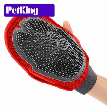 Comfortable TPR Cat Pet Dog Grooming Groom Glove Mitt dog puppy washing Cheaning bath Brush Comb dog Massage Shower