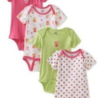 Gerber Baby-Girls Infant 4 Pack Variety Bunny Onesuit