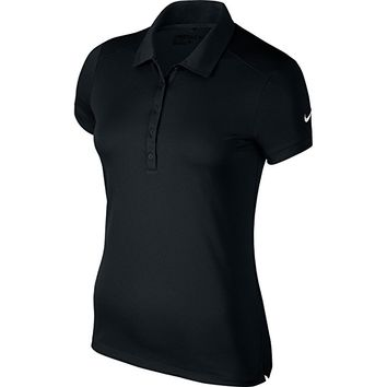 Womens/Ladies Victory Short Sleeve Solid Polo Shirt