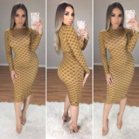 GUCCI Women Long Sleeve Bodycon Dress