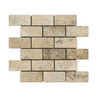2 X 4 Philadelphia Travertine Tumbled Brick Mosaic Tile