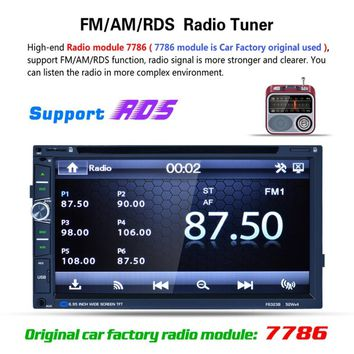 Fashionable F6323B 7 inch HD Touch LCD Screen Car DVD Player 7 Color Backlight Bluetooth Steering Wheel Control