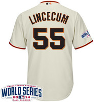 San Francisco Giants 2015 Cool Base Tim Lincecum Home Jersey w/2014 World Series Patch - MLB.com Shop