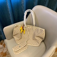GOYARD popular  Women Leather monnogam Handbag Crossbody bags Shouldbag Bumbag