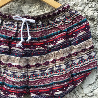 Aztec Abstract Shorts Rayon beach Style Clothing Bohemian Ikat Patterns For Summer for Women Men gift for him cute and unique red