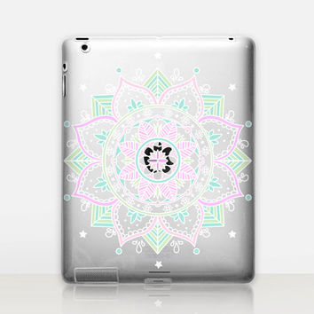 Colorful  Mandala Transparent iPad Case For - iPad 2, iPad 3, iPad 4 - iPad Mini - iPad Air - iPad Mini 4 - iPad Pro