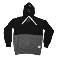 King Apparel - Fuchsia Hoodie - Black/Charcoal Grey