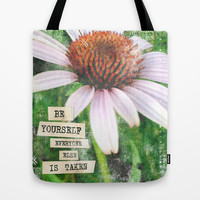 Be Yourself Tote Bag by Misty Diller of Misty Michelle Design
