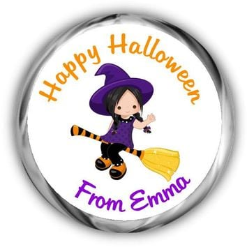 Witch Personalized Halloween Hershey Kisses Stickers