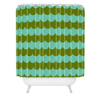 Holli Zollinger Waves Of Color Shower Curtain