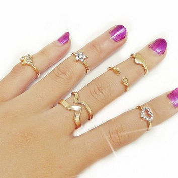 Gift Jewelry New Arrival Shiny Stylish Accessory Korean Leaf Punk Gemstone Ring [6573117127]