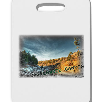 Castlewood Canyon Old Photo Thick Plastic Luggage Tag