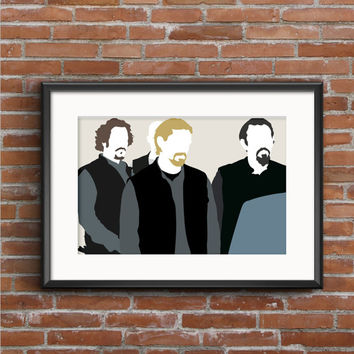 Sons of Anarchy Poster - Jax Teller Chibs Telford Tig Trager Poster - Sons of Anarchy Print - Redwood Original - SOA - Geek Gift - TV Poster