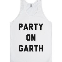 Party On Garth-Unisex White Tank