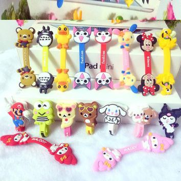 Super Mario party nes switch 50pcs/lot Earphone Winder Cable Cord Organizer Holder for iPhone MP5 Multi-styles Cute Cartoon Cable Ties Cord for Headphones AT_80_8
