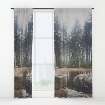 Moody mornings Window Curtains by happymelvin
