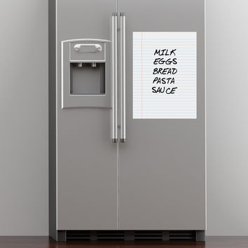 wall decal - Dry Erase Notebook Paper