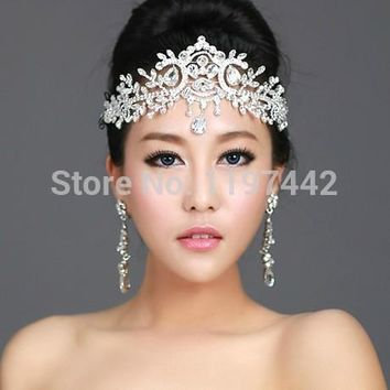 2017 hot sale bridal Hairbands Crystal Headbands women Hair Jewelry Wedding accessories crystal Tiaras And Crowns Head Chain