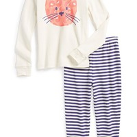 Girl's Tucker + Tate Two-Piece Fitted Pajamas