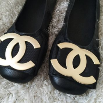 CHANEL fashion new women's shoes with flat bottom egg rolls shoes single shoes Black