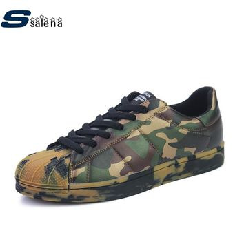 New Men's Fashion Athletic Camouflage Sneakers