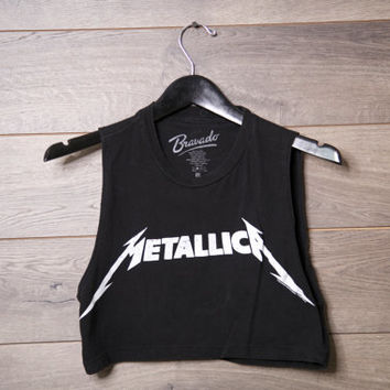 Metallica crop top