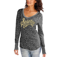 New Orleans Saints Touch by Alyssa Milano Women's Mia Thermal – Gray
