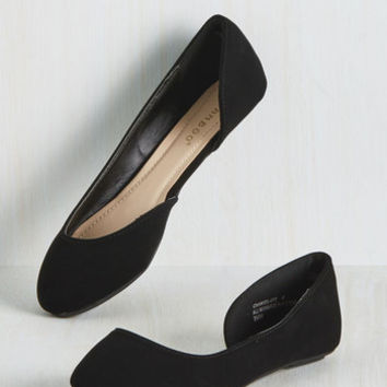 Mojave Memories Flat in Black | Mod Retro Vintage Flats | ModCloth.com