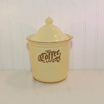 Vintage Pfaltzgraff Village Coffee Canister (c. 1976-1980's) 2 Quart Canister, Village Pattern, Wedding Gift, Collectible, Made In USA