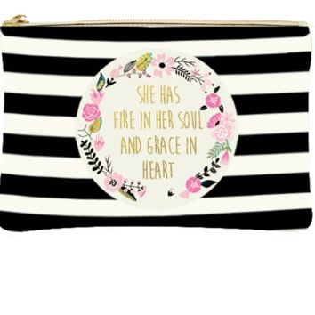 Fire In Her Soul | Canvas Makeup Bag