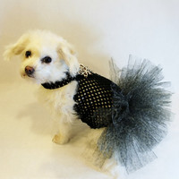 RockinDogs Black Leopard Dog Tutu Dress