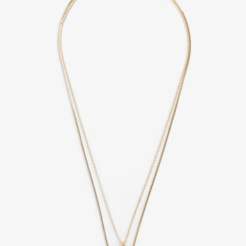 Two-chain charm necklace - Gold - Jewellery - Monki GB