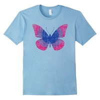 Bisexual Pride Flag Butterfly LGBTQ Equality T Shirt